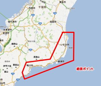 いすみ、勝浦、鴨川は絶景ポイントと知られていない海水浴場が多い
